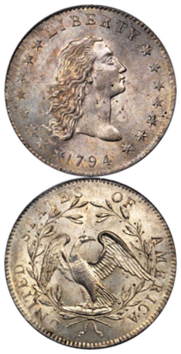 The Lord St. Oswald specimen of the 1794 dollar realized $2.8 million in Stack's Bowers American Numismatic Association auction in August.