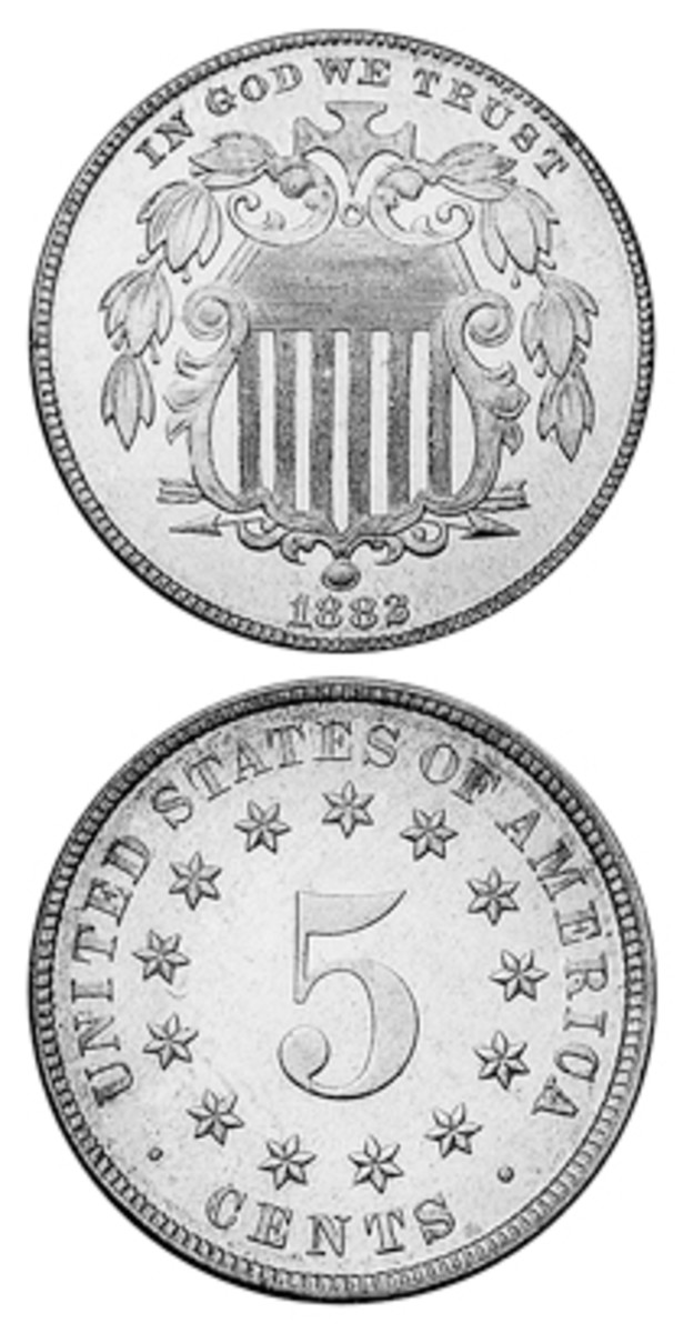 The copper-nickel Shield nickel of 1882 had a relatively large mintage in comparison to the series' previous five years of proof-only (1877-1878) and less than 100,000 (1879-1881) pieces.