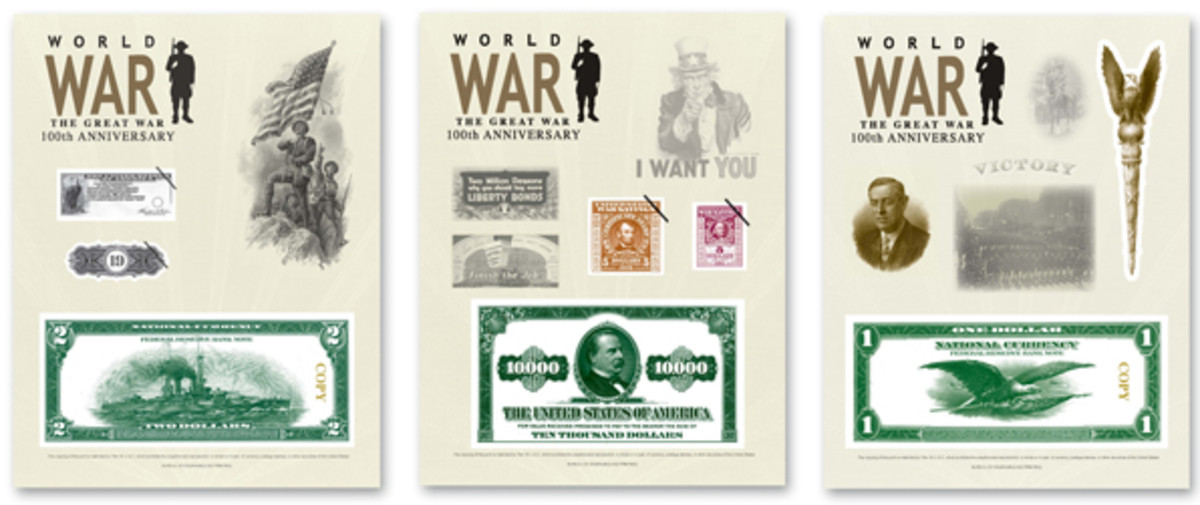 The 100th anniversary of WWI is marked on new Bureau of Engraving and Printing intaglio prints.
