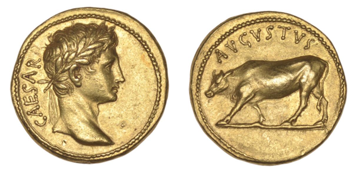 An aureus of Augustus sold for $784,000 at a Dix Noonan Webb sale.
