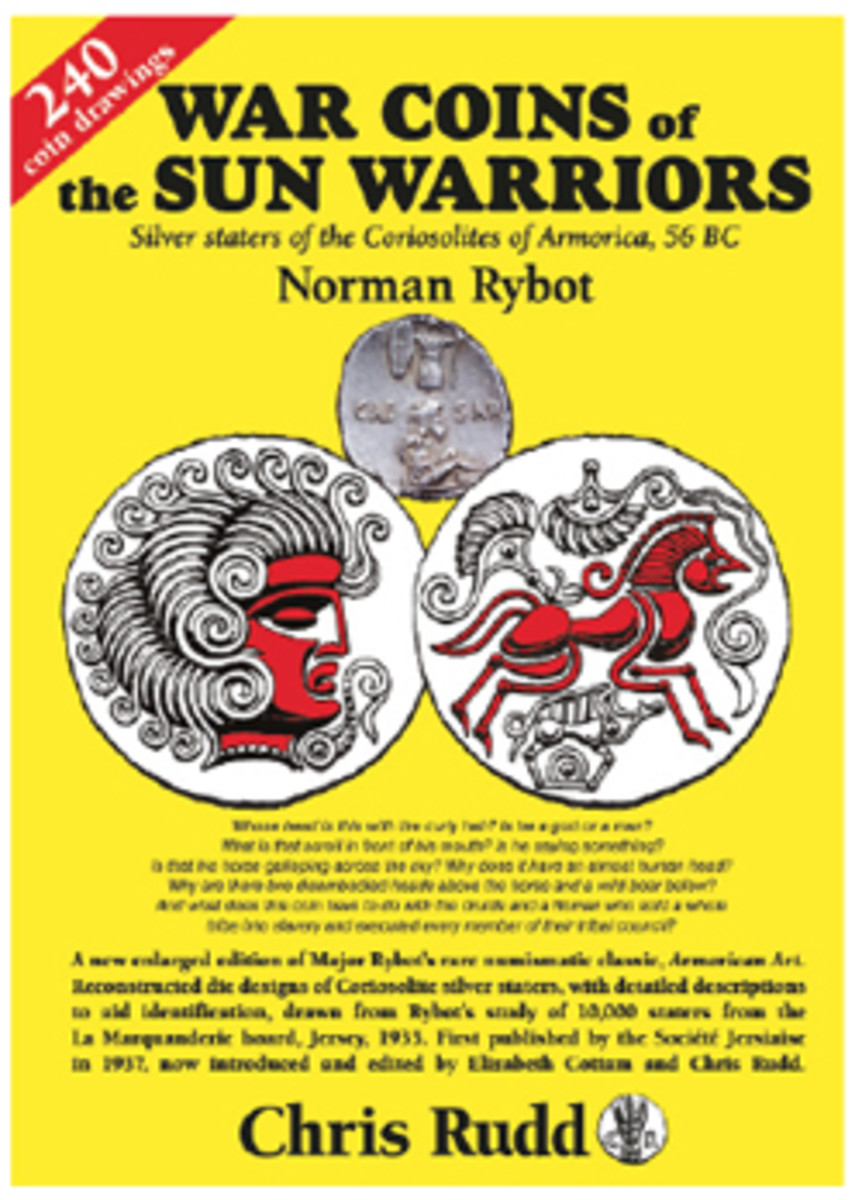 Cover of the reprinted edition of Norman Rybot's classic Armorican Art. (Image courtesy Celtic Coins)