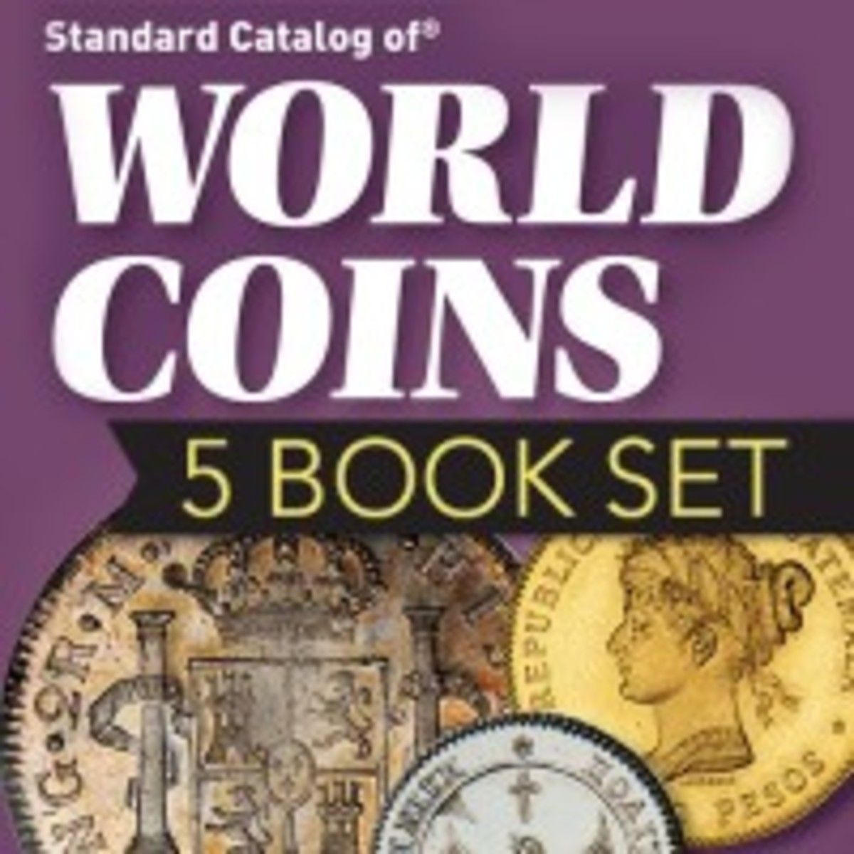 The famous five book Standard Catalog of World Coins collection is back!