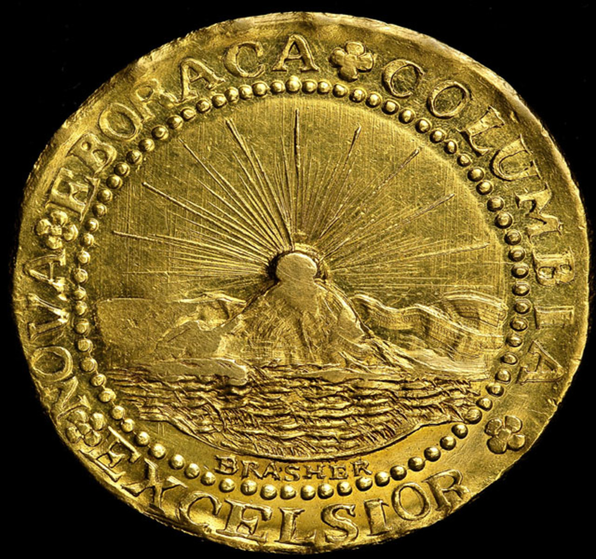 Reverse of the 1787 Brasher Doubloon