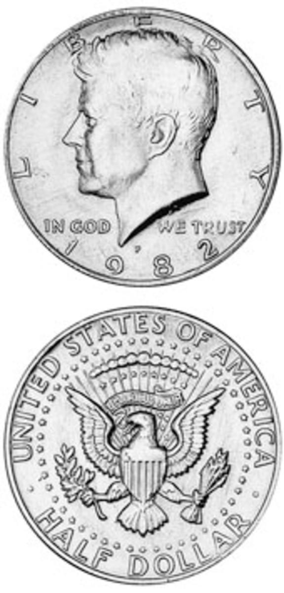 1982-P Kennedy half dollar