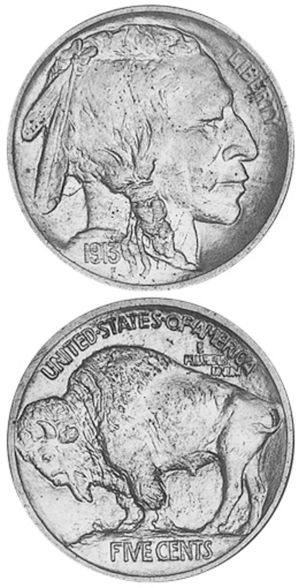 Even with the date worn off, collectors can identify the mound type Buffalo nickel struck only in the first year of 1913.