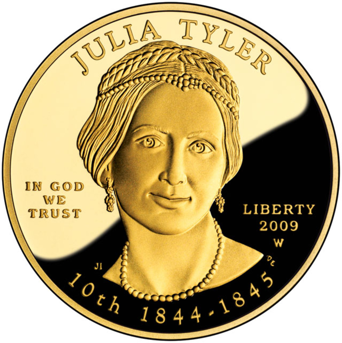 Obverse of the 2009-W Julia Tyler First Spouse proof gold coin