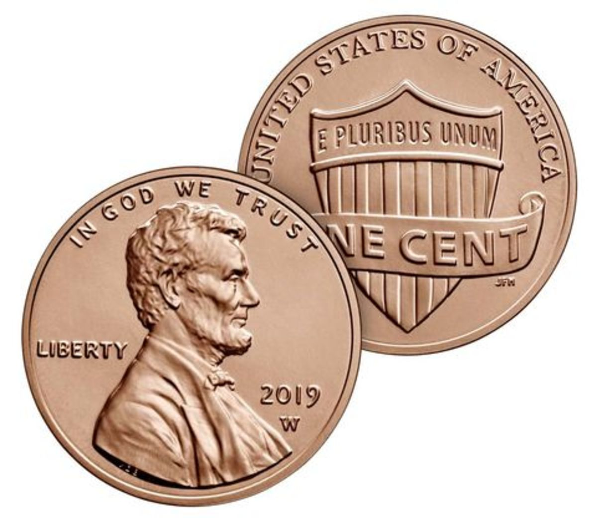 """New this year, a bonus 2019 uncirculated Lincoln penny with the """"W"""" mint mark"""