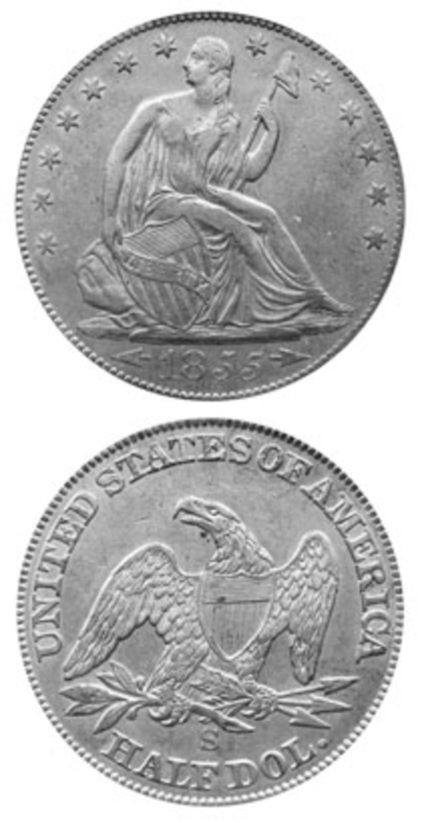 In addition to its importance as the first half dollar struck at the San Francisco Mint, the 1885-S Seated Liberty half dollar was also the only San Francisco half struck with arrows at the date.