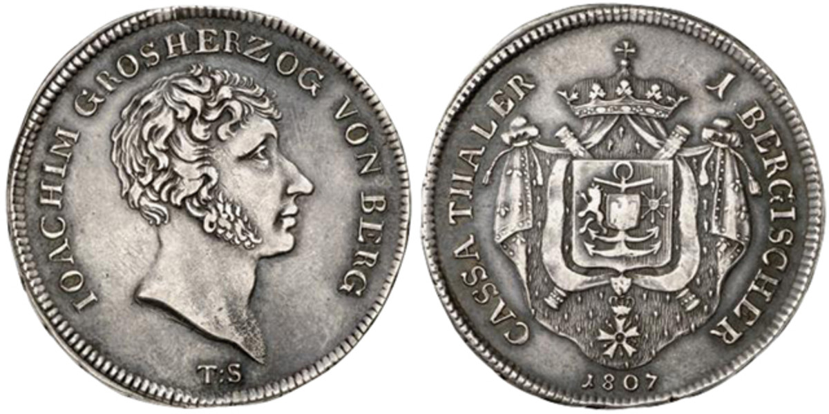 German coins like this 1807 Berg thaler could become difficult to sell should the new law pass.