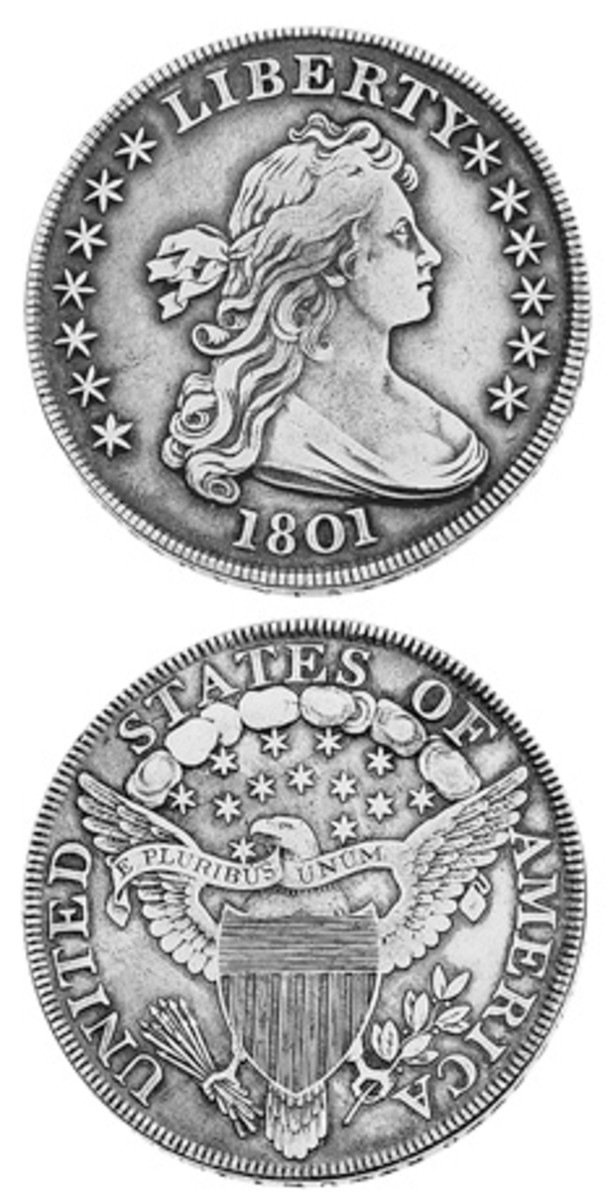 While the reported mintage for the 1801 Draped Bust silver dollar is 54,454, many factors raise questions about the accuracy of that figure and, therefore, the true scarcity of the coin.
