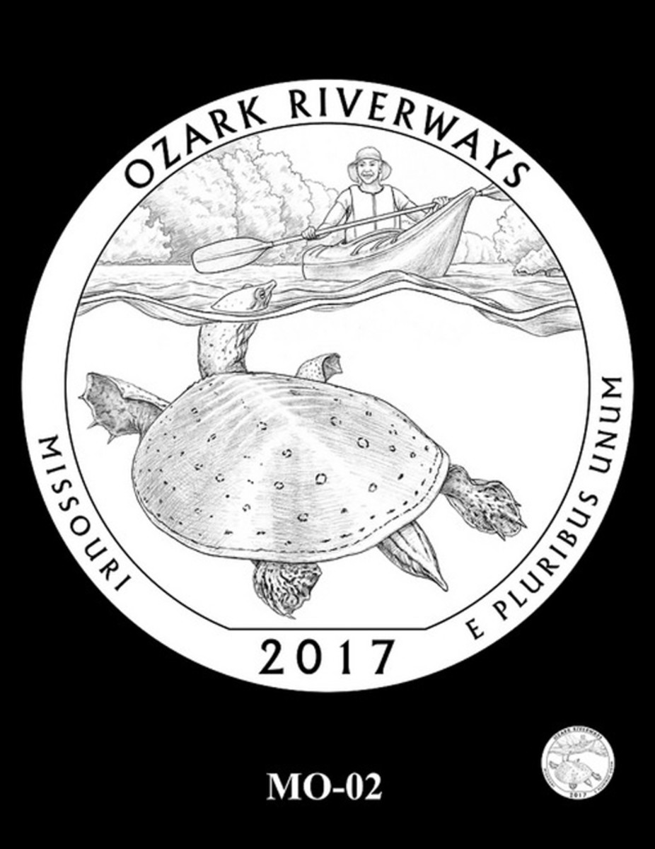 The design reccommended by the CCAC for the Ozark Riverways quarter.
