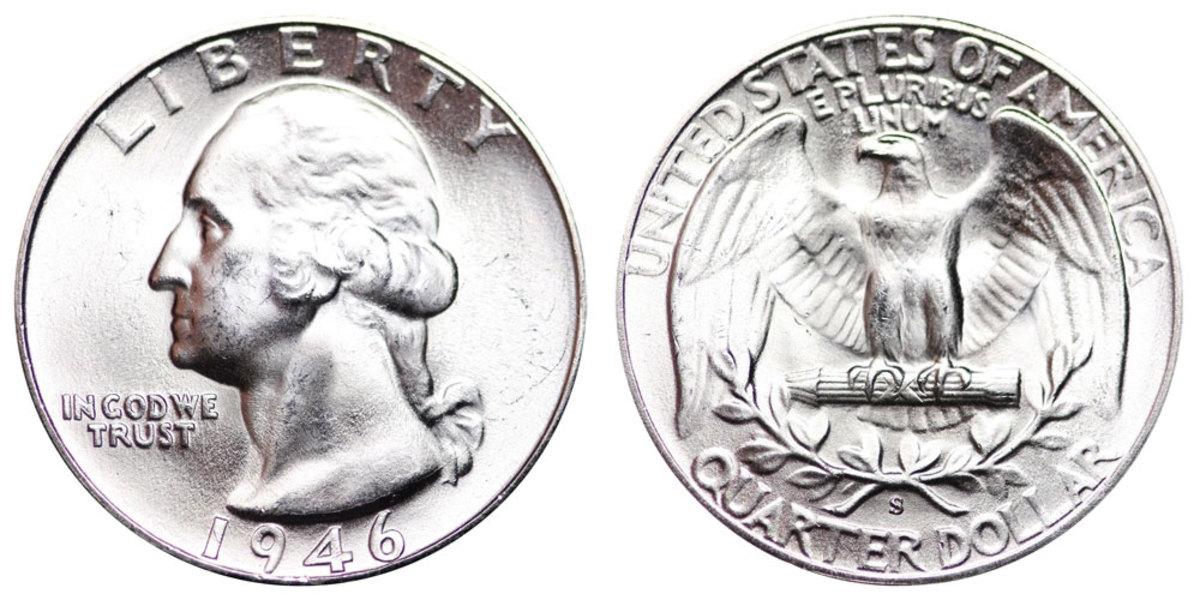 1946-S Washington quarter. (Images courtesy usacoinbook.com.)