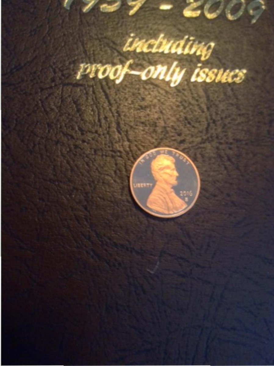An image of the 2016-S proof Lincoln cent that was found at a bank in