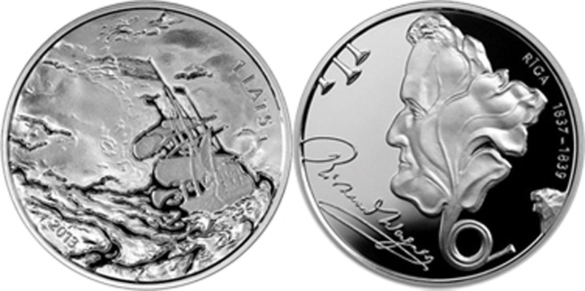 2013 Latvia Richard Wagner silver lats