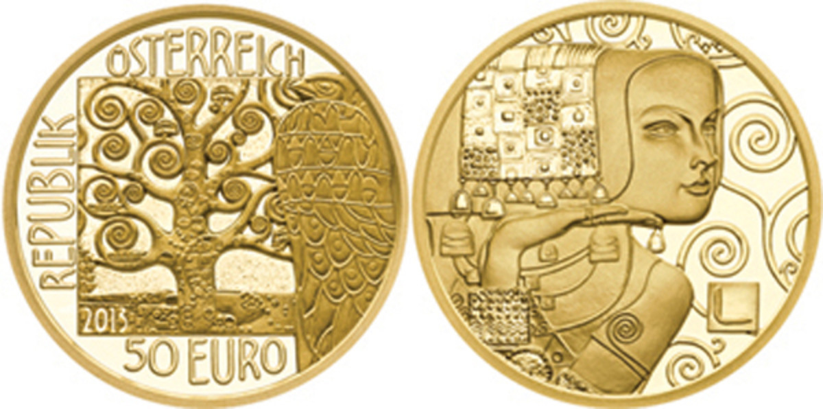 2013 Austria Klimt and his Women gold 50 euro