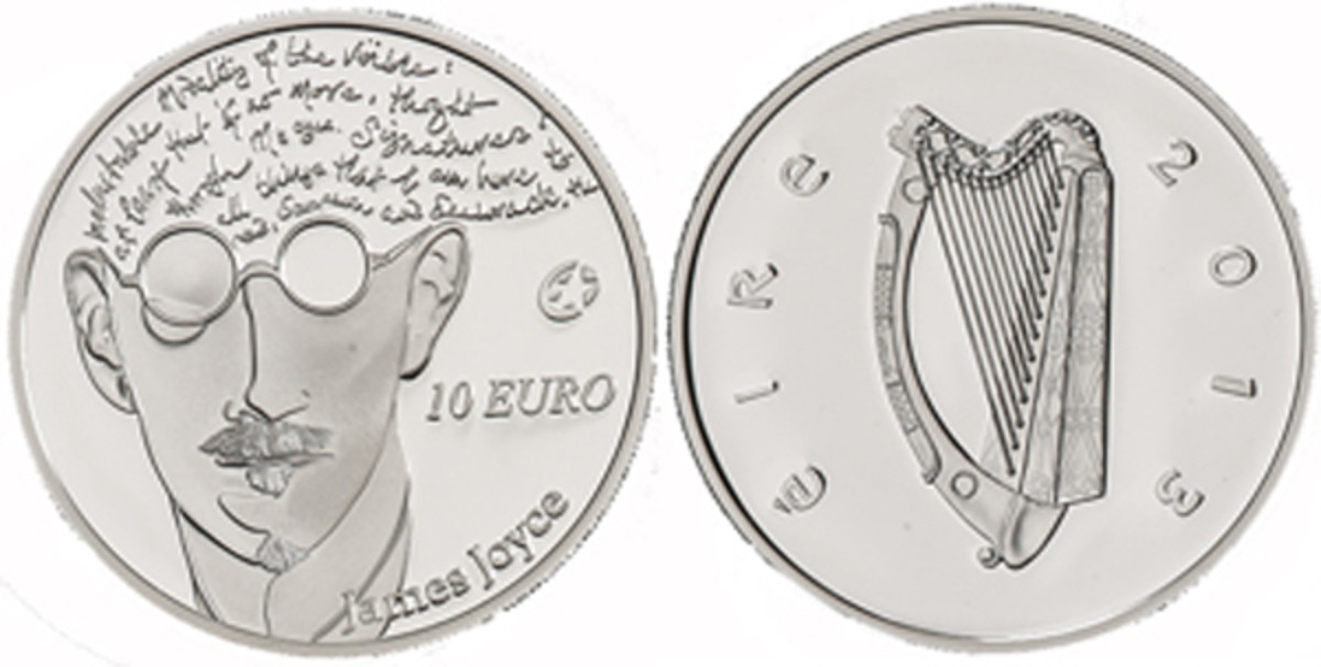 2013 Ireland James Joyce silver 10 euro