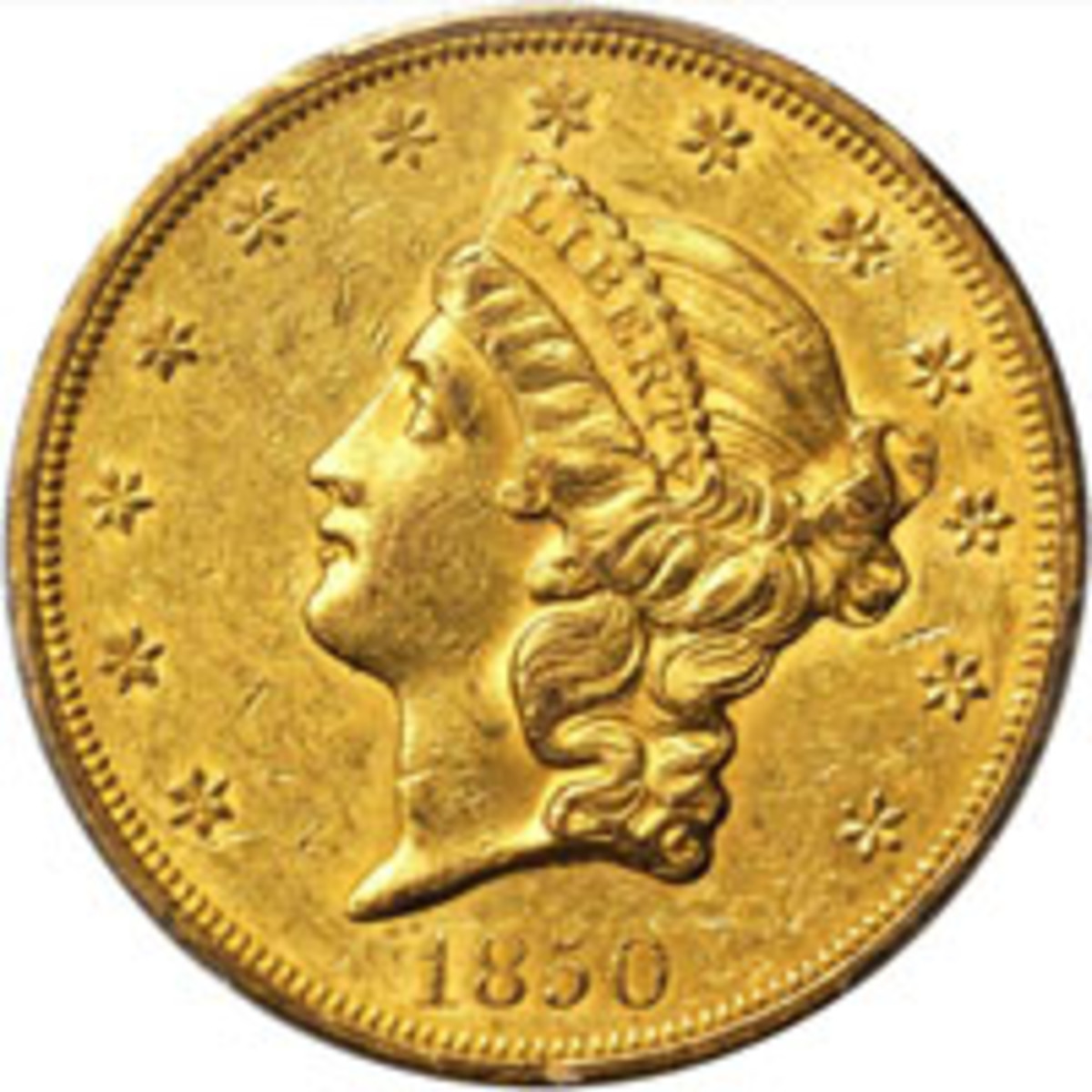 Double eagles begin with the 1850 in Stack's Bowers Baltimore auction.