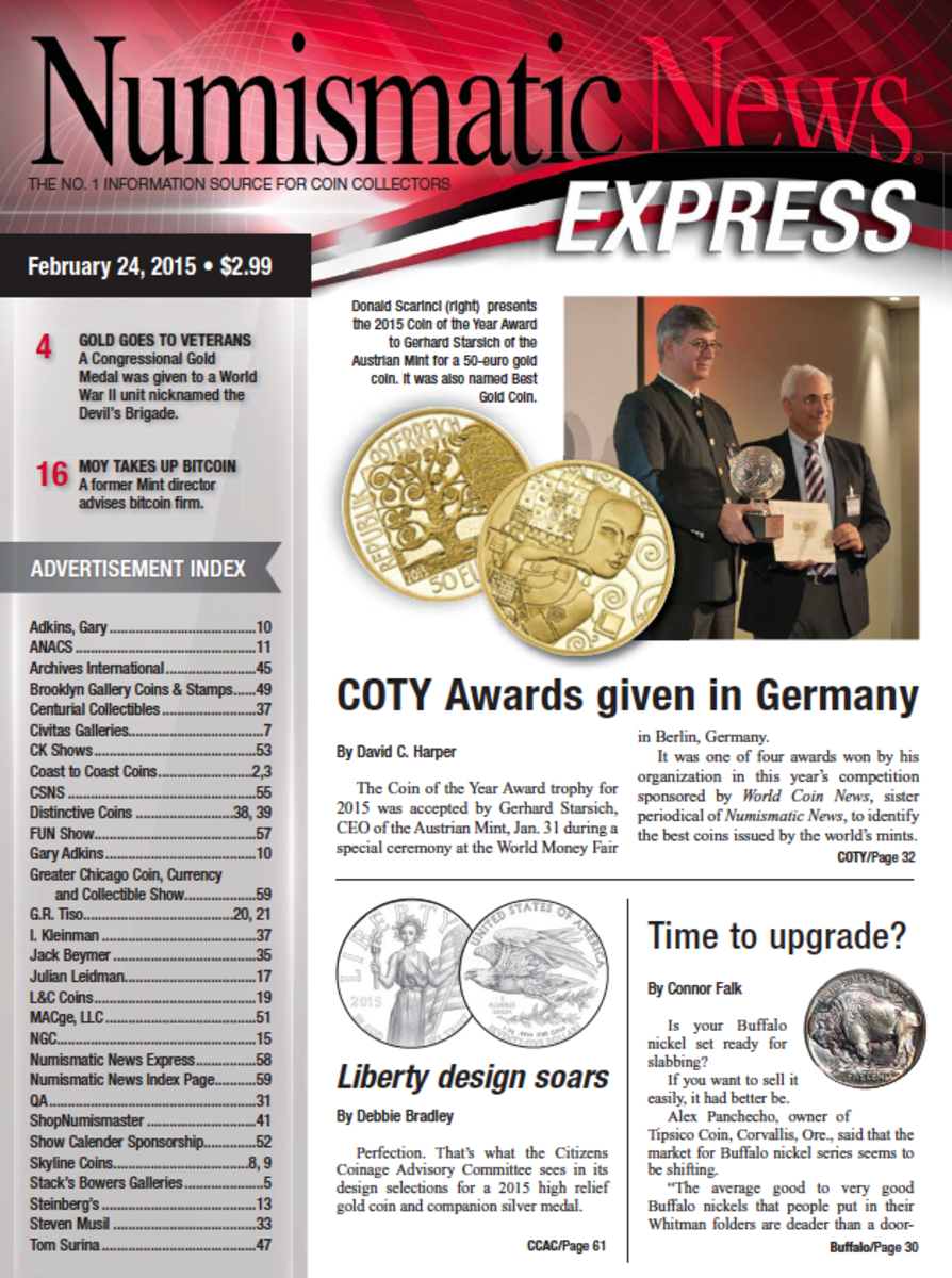 Get the latest issue of Numismatic News Express today!