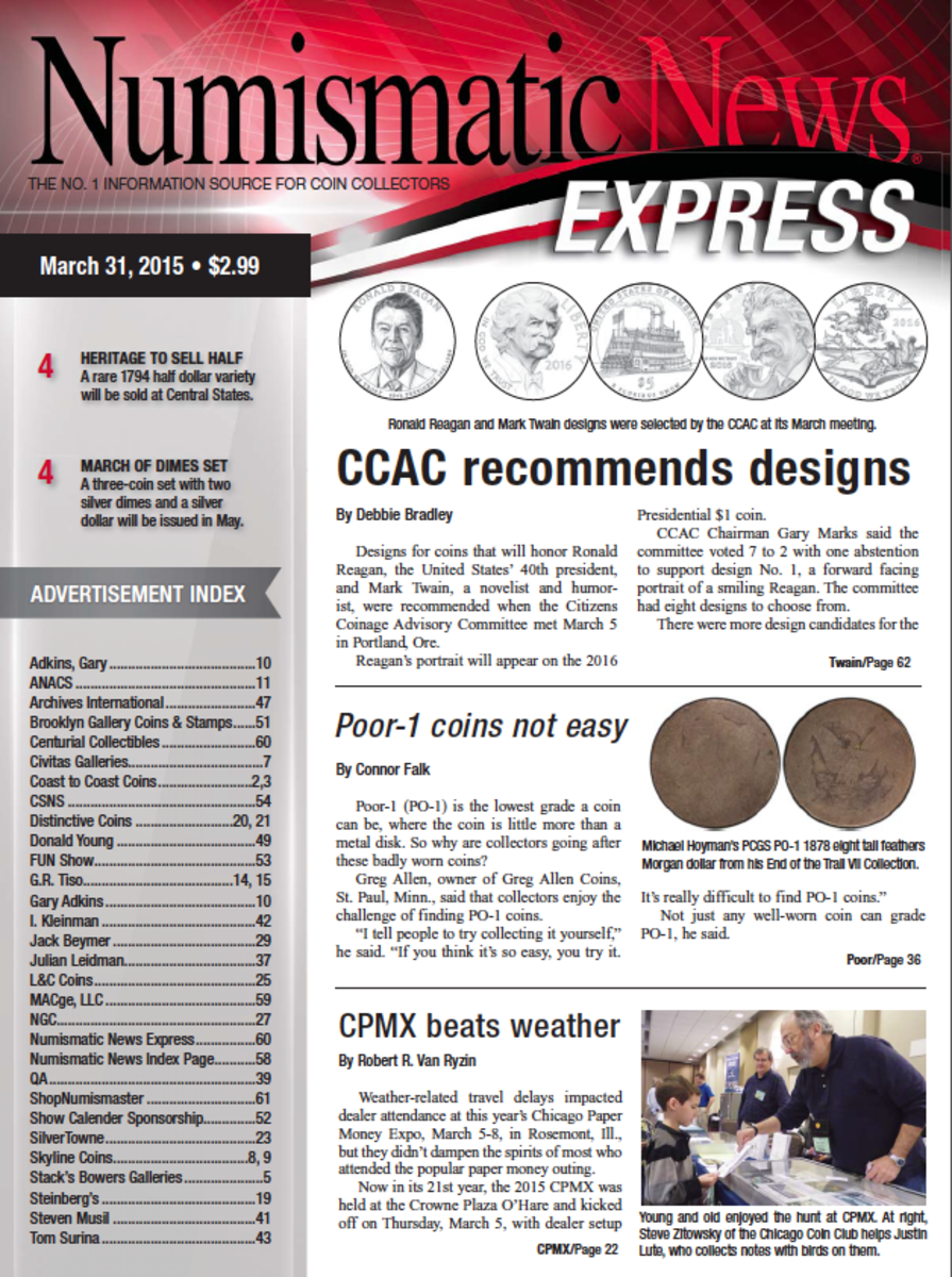 Get your copy of the latest Numismatic News Express here!