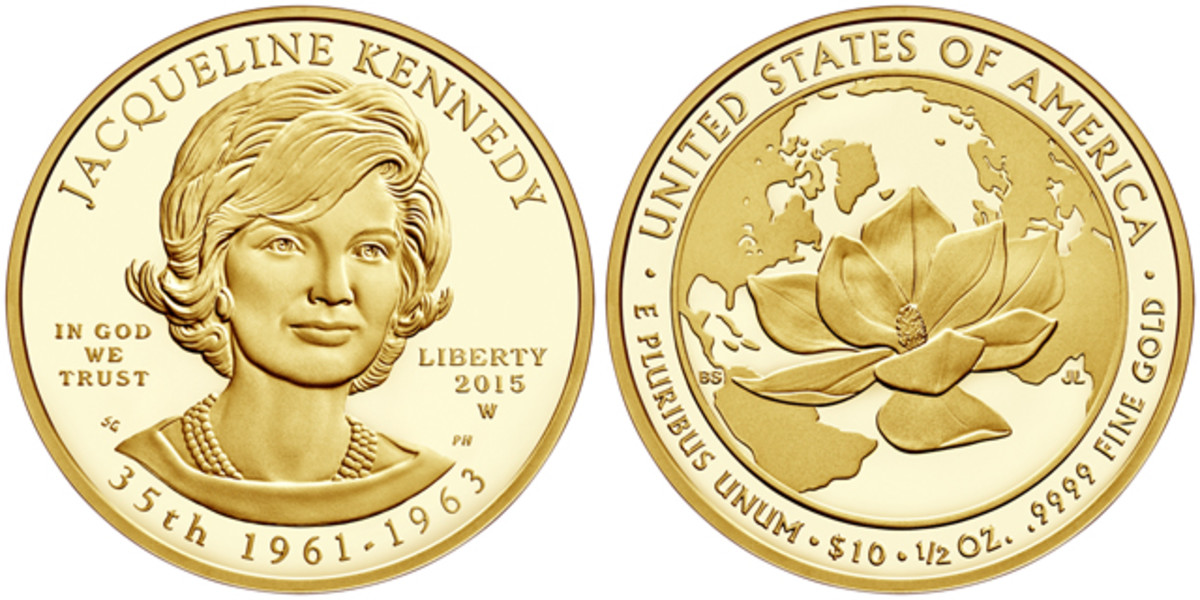 The 2015-W Jacqueline Kennedy First Spouse gold coin, on sale June 25, has a mintage limit of 30,000 coins across both uncirculated and proof issues.