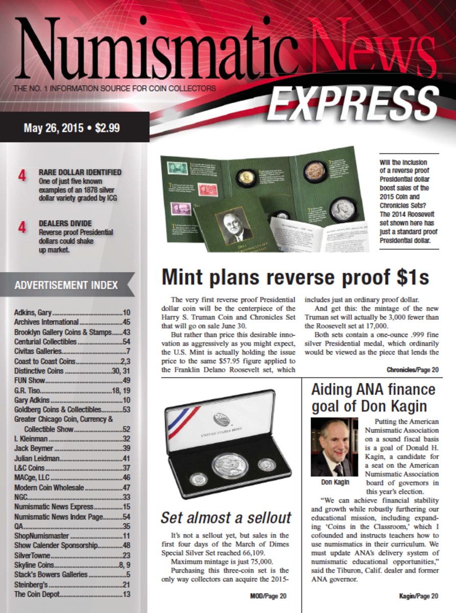 Check out the latest Numismatic News Express here!