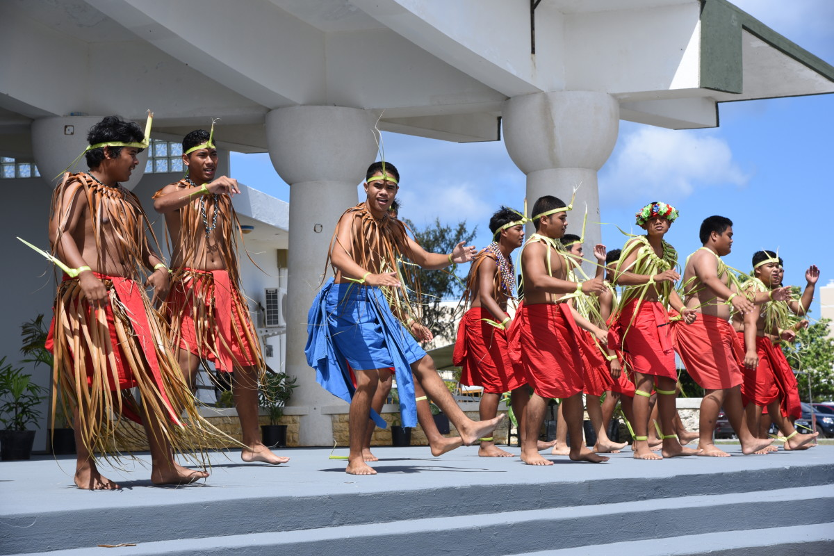 Attendees of the April 30, 2019, ceremony to launch the American Memorial Park quarter in Garapan, Saipan, were treated to pre-event Carolinian and Chamarro performances. U.S. Mint photo by Sharon McPike.