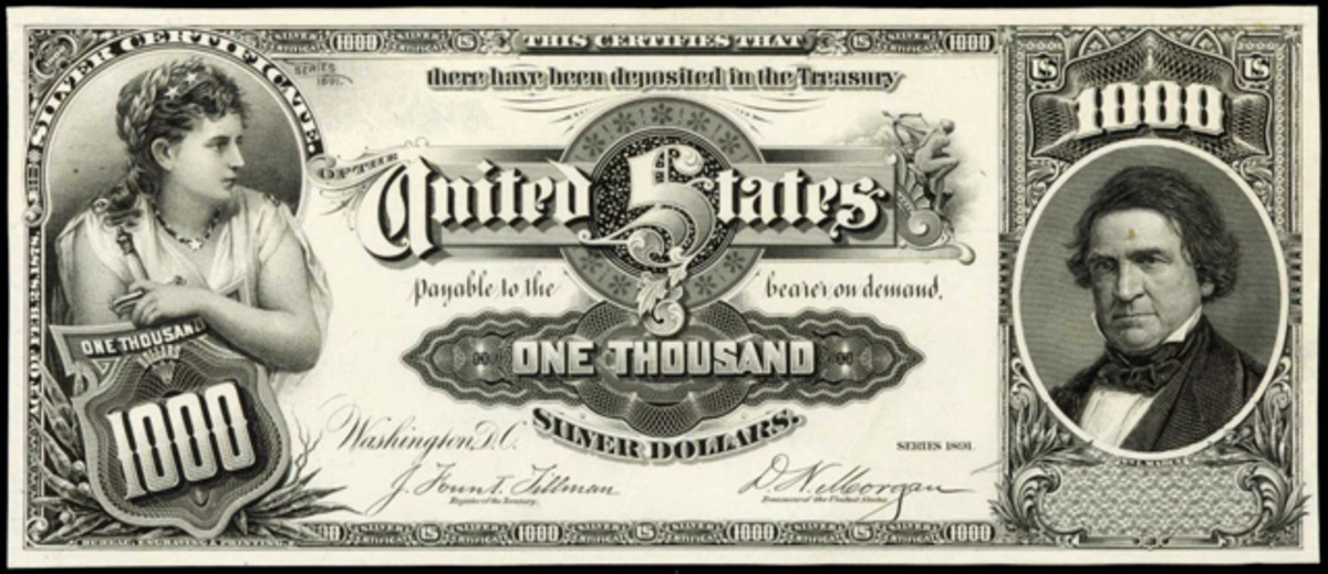This face proof for the 1891 $100 brought $88,125.