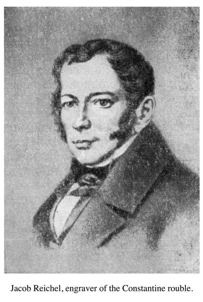 Jacob Reichel, engraver of the Constantine ruble