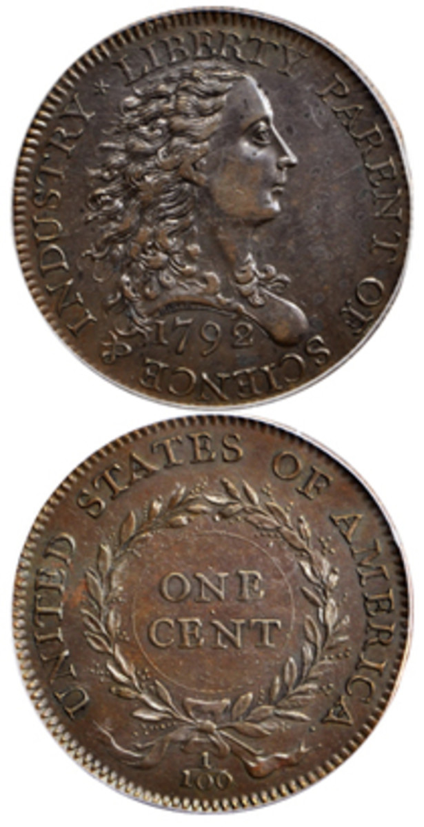 The unique 1792 Birch cent with a plain edge (Judd-3) that took the top price of $660,000 in a recent Stack's Bowers sale.