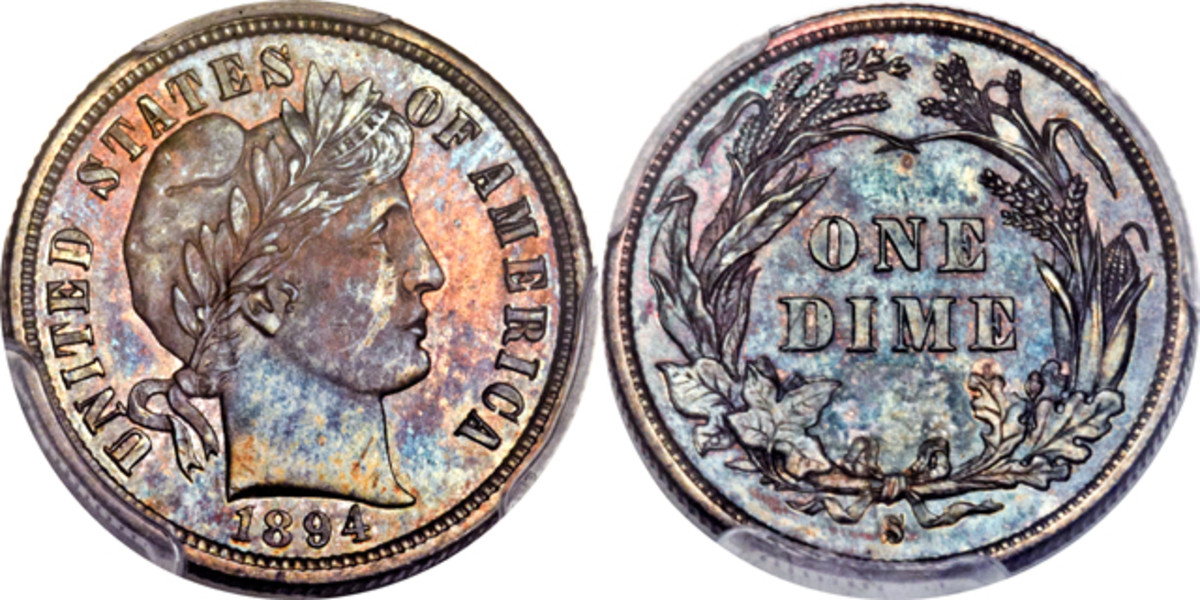 The finest known 1894-S Barber dime will be featured in the Florida United Numismatists auction.