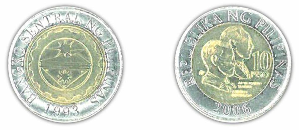 philippines 10 peso coin