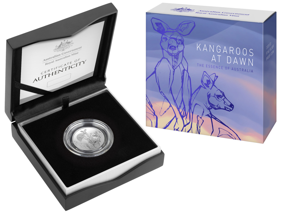 The new 2020 $1 Kangaroos at Dawn Coin. Image courtesy of the Royal Australian Mint