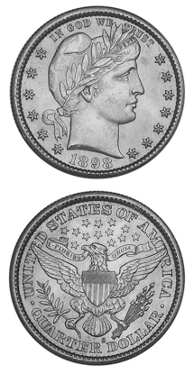 Fewer 1898-S Barber quarters are available in top grades than might be thought based on mintage.