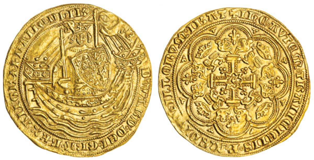 Desirable Edward III noble from the pre-Treaty period