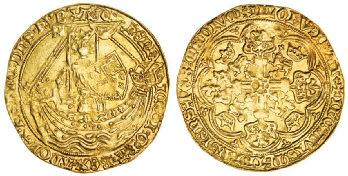 Light coinage noble of Henry IV, Tower Mint