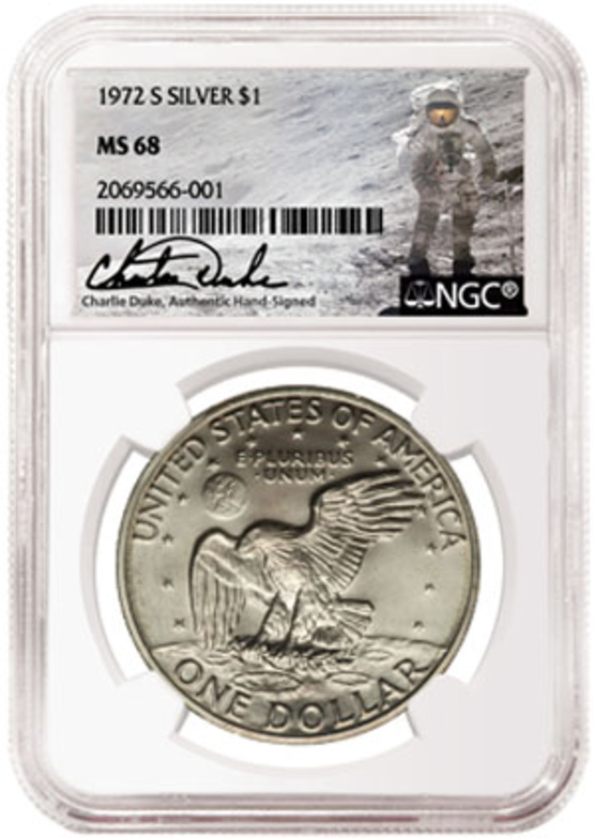 Charlie Duke, astronaut in NASA's Apollo 16 lunar mission, will also sign a limited run of NGC slab labels.