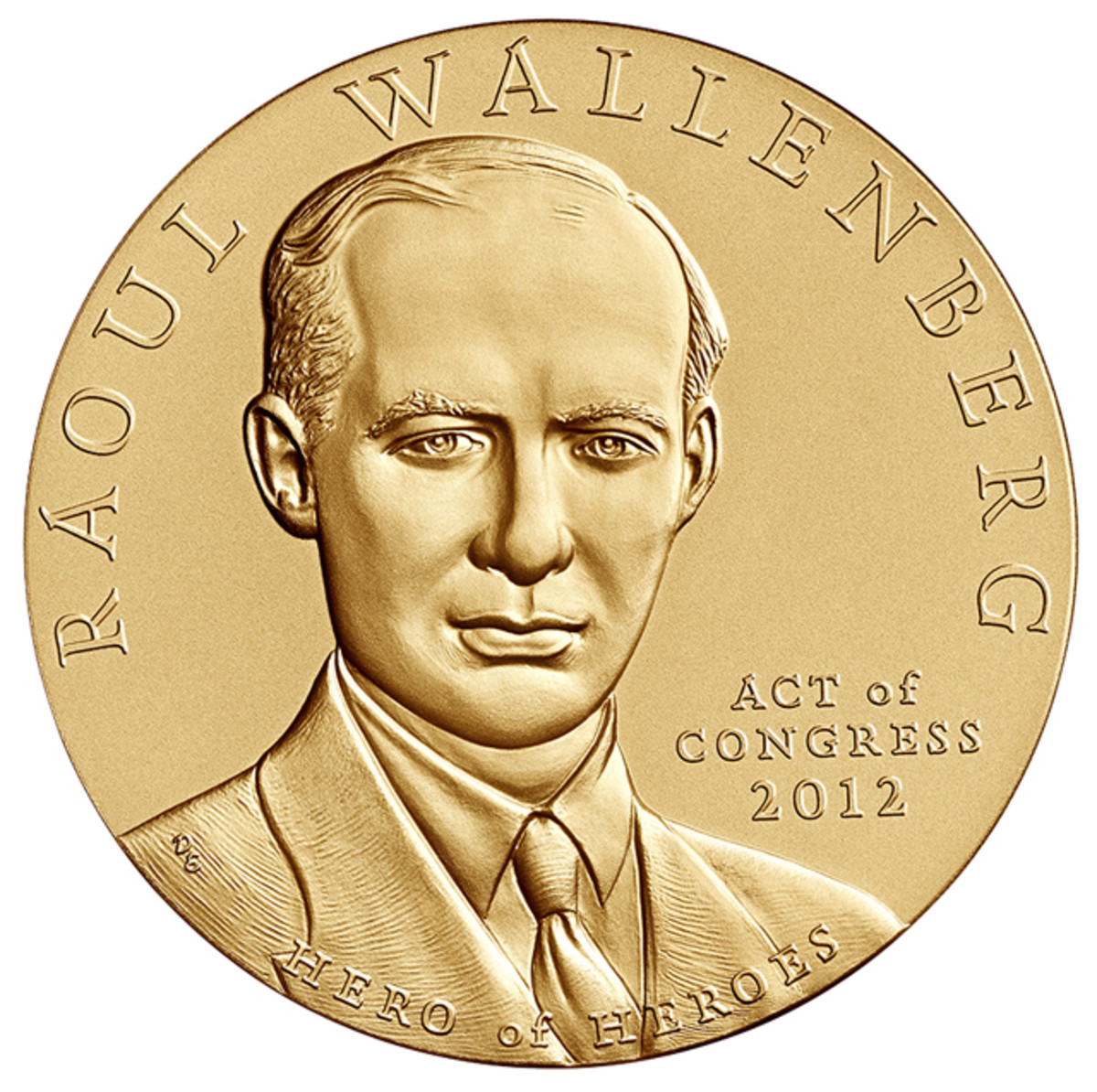Obverse of the Wallenberg bronze medal