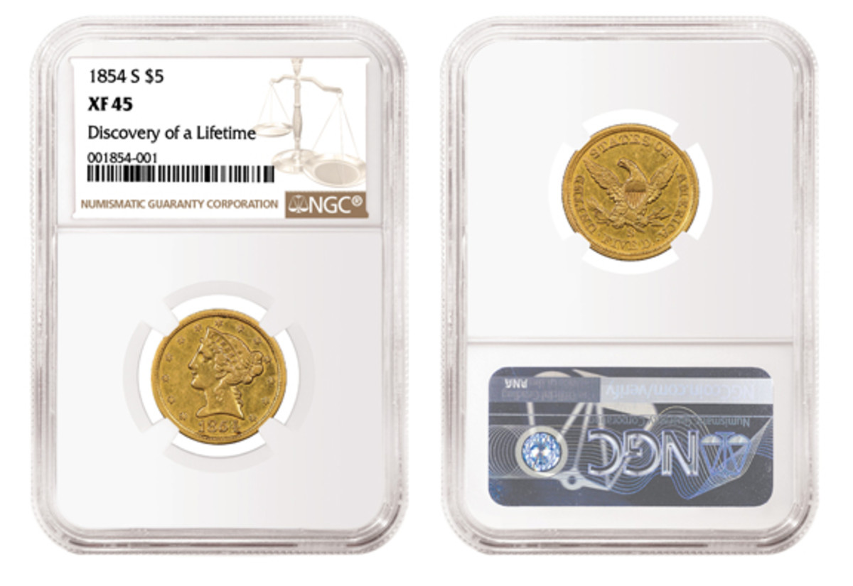 """A special label saying """"Discovery of a Lifetime"""" makes this slab from Numismatic Guaranty Corporation something to marvel at."""