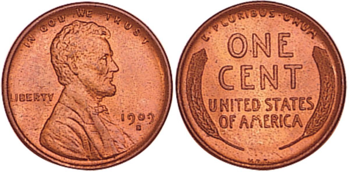 Denomination: One cent Weight: 3.11 grams, 2.7 grams in 1943 Diameter: 19 mm Composition: Bronze (1909 to 1942), Steel (1943), Brass (1944 to 1958) Dates Minted: 1909 to 1958 Designer: Victor D. Brenner