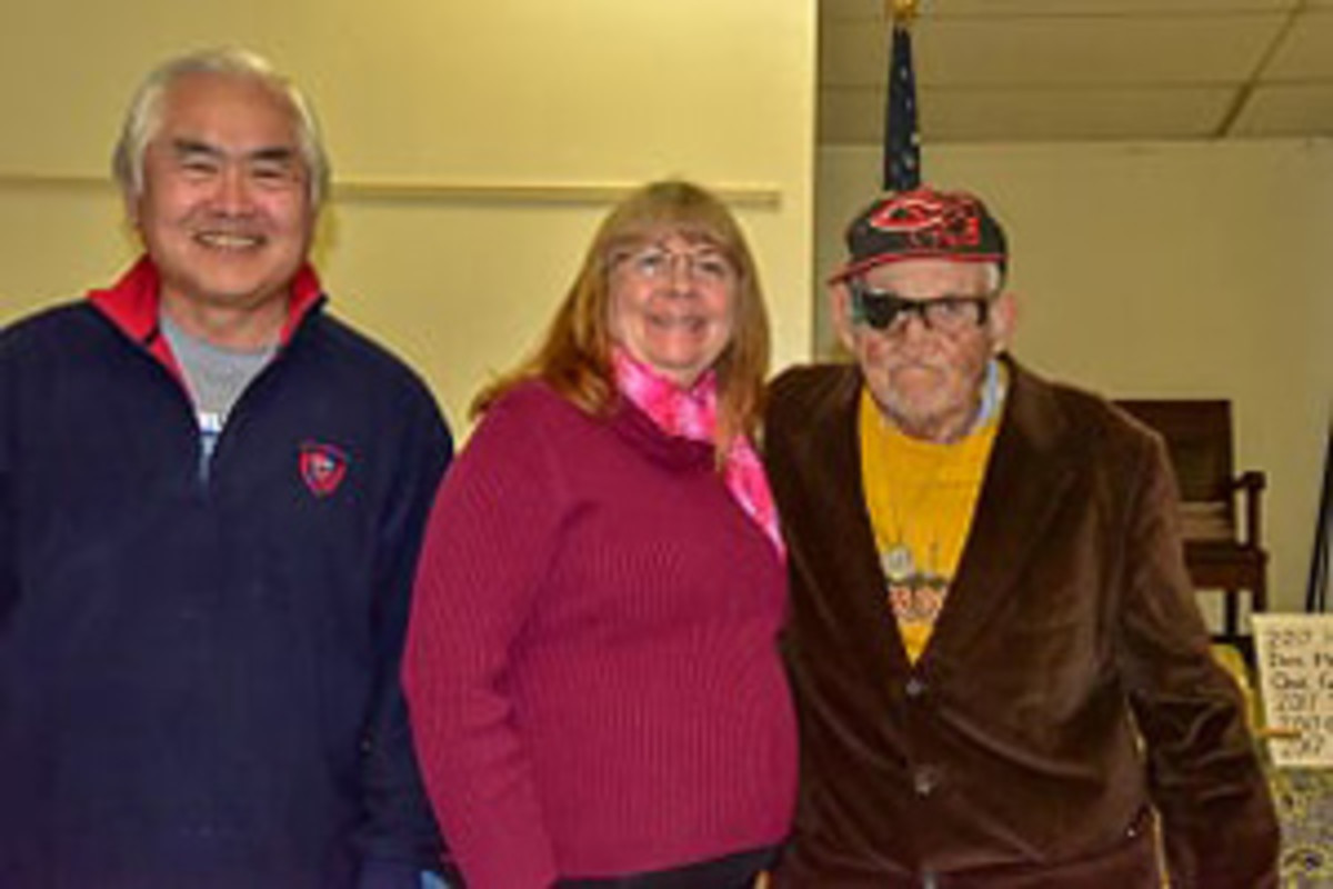 Left To Right, Lloyd G. Chan with President's Medals honorees Deana Gilbeau and Richard Faber, both dedicated Delta Coin Club members and supporters.