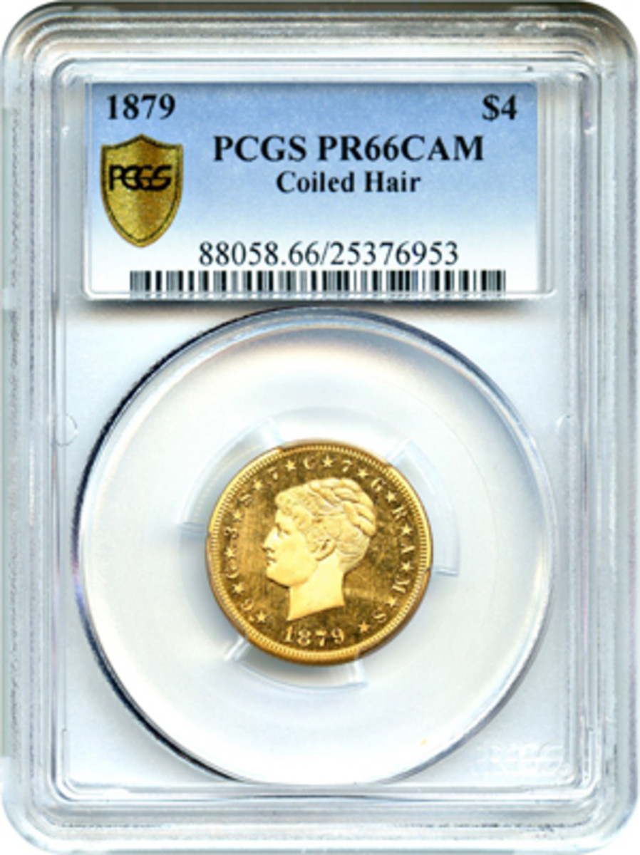 The coin has been slabbed by PCGS.