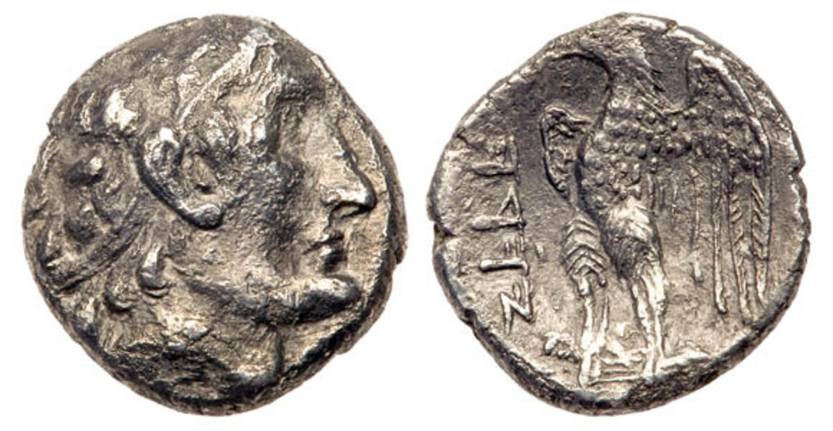 Weighing just 1.49 gm, this tiny silver Hemidrachm sold for $21,000.