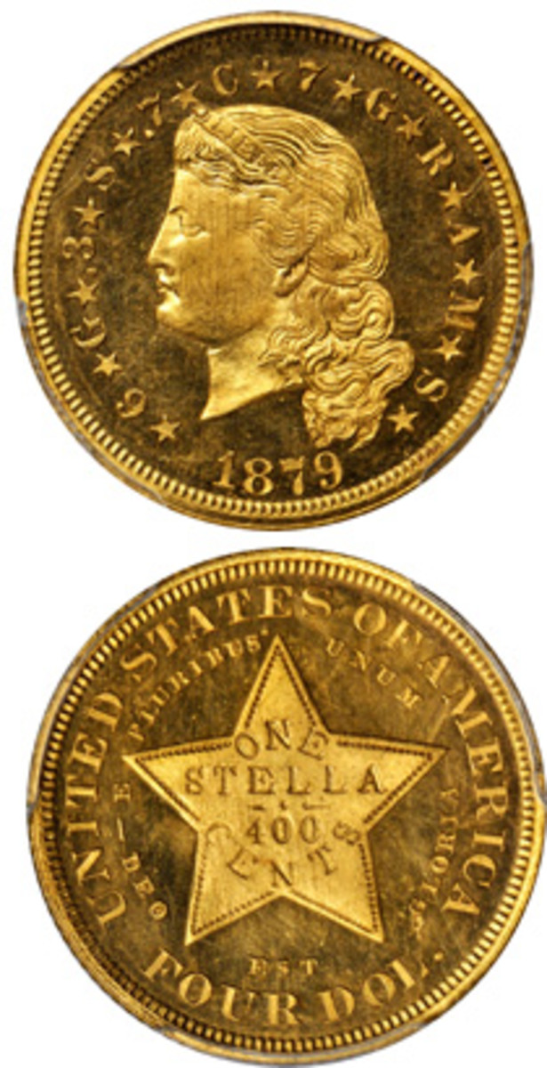 An Proof-66 Cameo $4 gold piece will be among the highlights of a November auction to be conducted by Stack's Bowers Galleries.