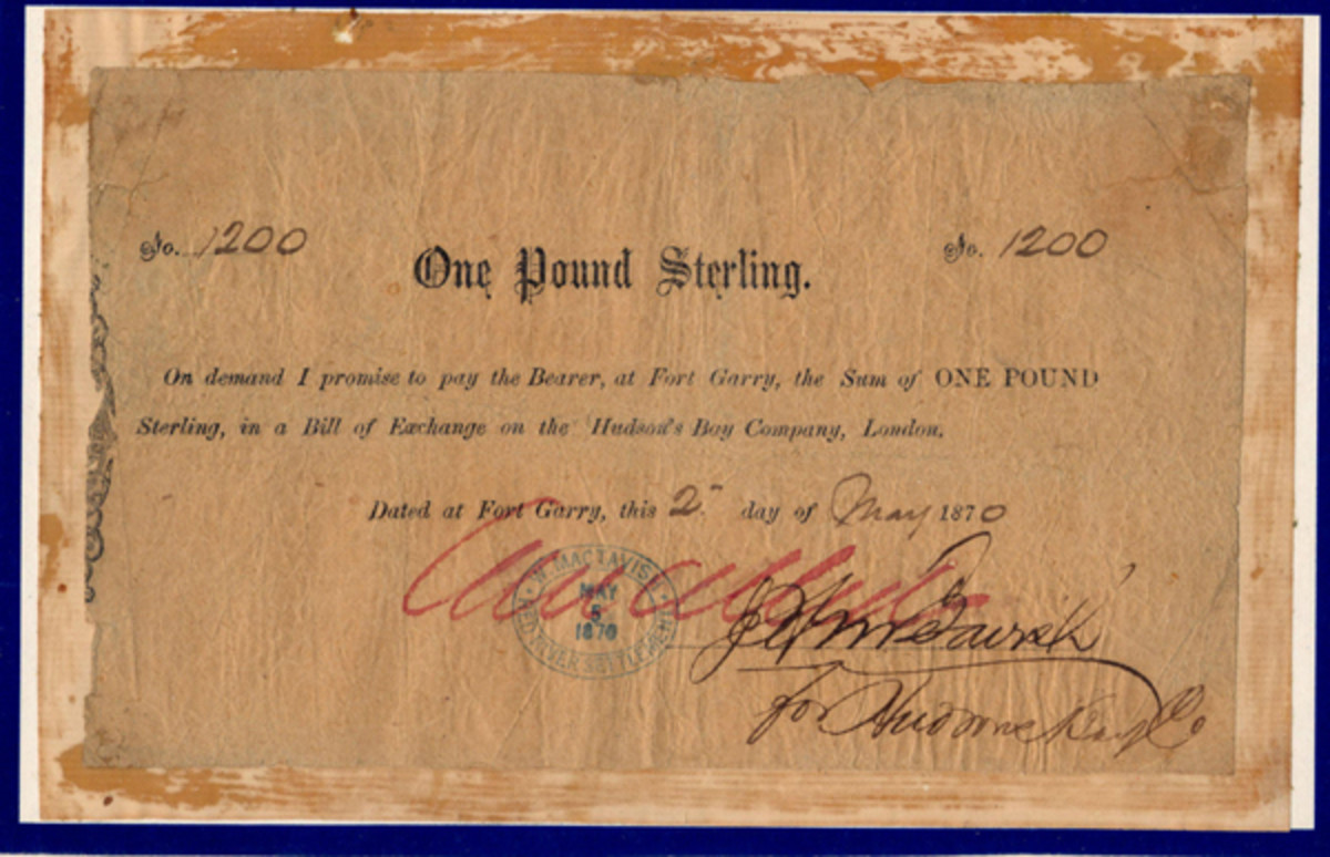 A rare Hudson's Bay Company promissory note will be displayed in Canada in October at the Regina Coin Club Show and Sale.