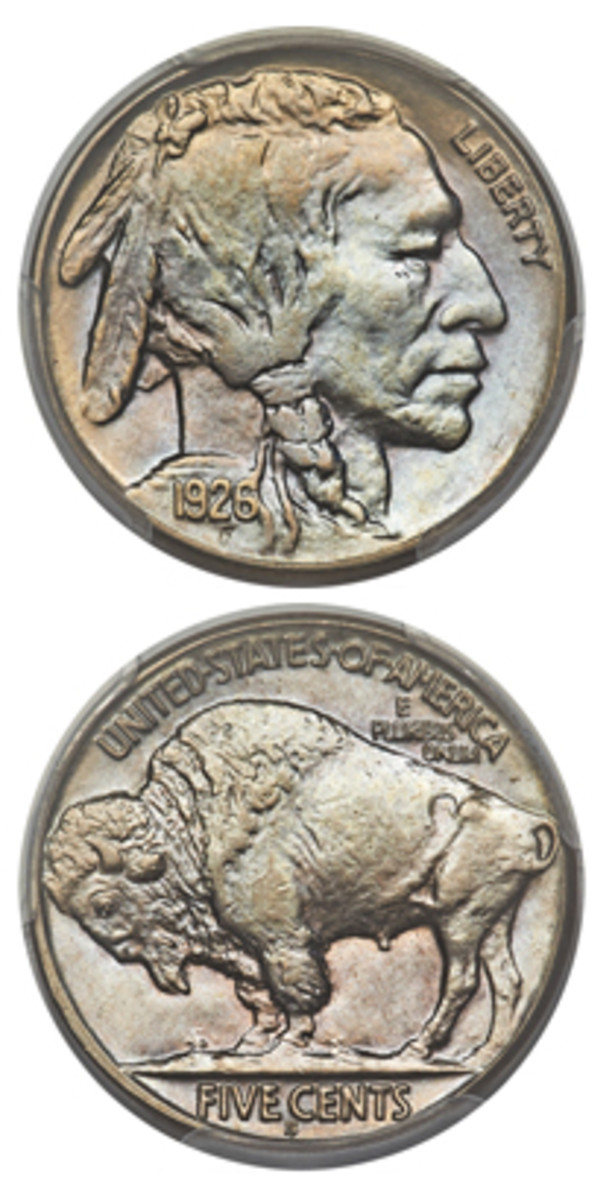 A 1926-S Buffalo nickel that sold for $99,000.