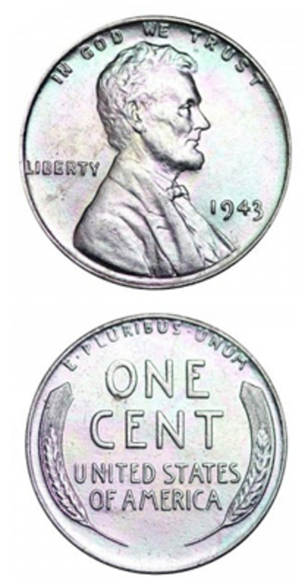1943-P Lincoln steel cent. (Image courtesy www.usacoinbook.com)
