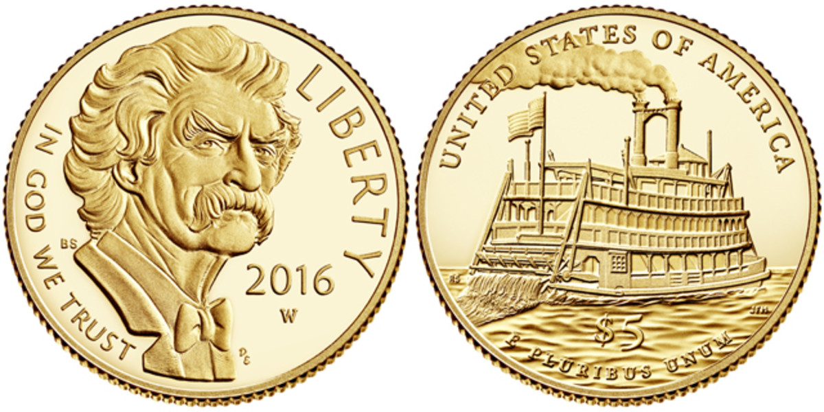 The 2016 gold and silver Mark Twain commemoratives will be among the first collectible coin releases in 2016.