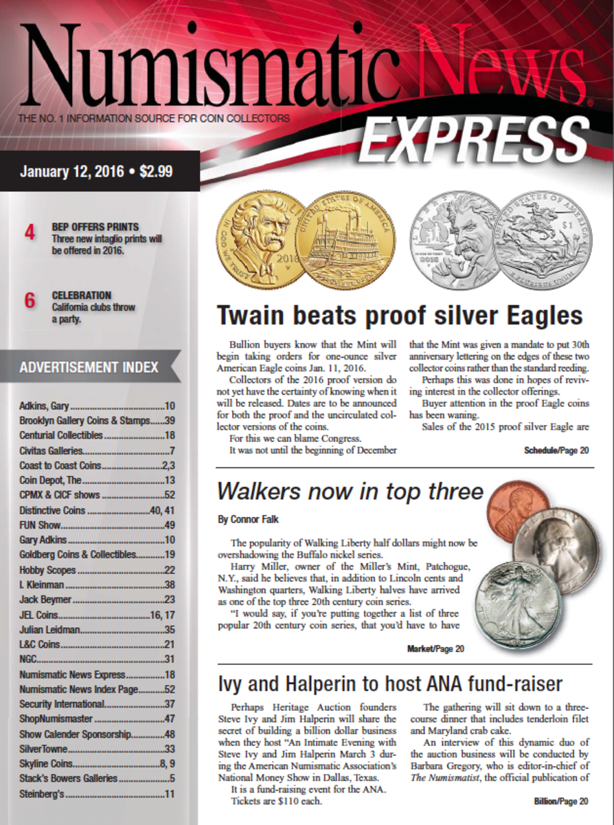 Check out the latest issue of Numismatic News Express here!