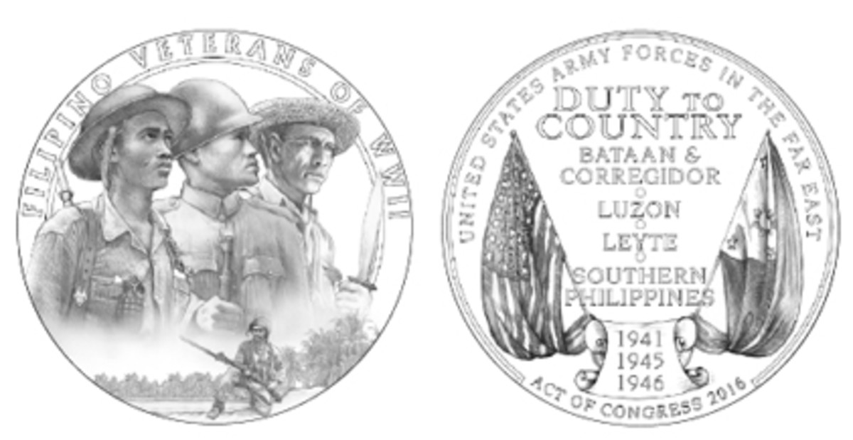 The CCAC, at the recommendation of its Filipino Veterans liaison, recommended obverse Design 04 and reverse Design 01 for the Congressional Gold Medal.