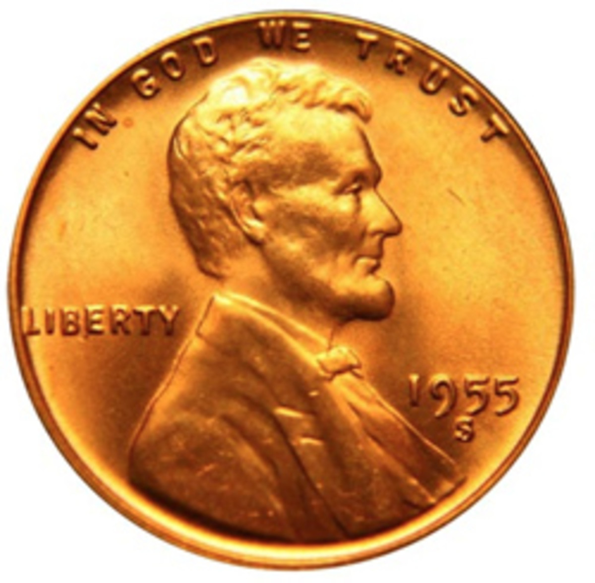 The 1955-S Lincoln cent, which the author found to be extremely elusive in circulation. (Image courtesy www.usacoinbook.com)